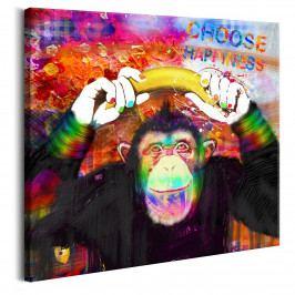 Šťastná opička (80x80 cm) - Murando DeLuxe