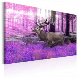 Jelen ve fialovém lese (105x70 cm) - Murando DeLuxe