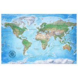 Mapa na korkové tabuli - nebeská planeta (90x60 cm) - Murando DeLuxe