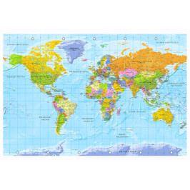 Mapa na korkové tabuli - pohled na svět (90x60 cm) - Murando DeLuxe