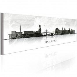 Hamburk: město mostů (140x42 cm) - Murando DeLuxe
