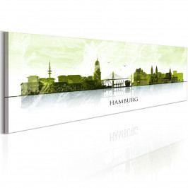 Hamburk: město na vodě (140x42 cm) - Murando DeLuxe