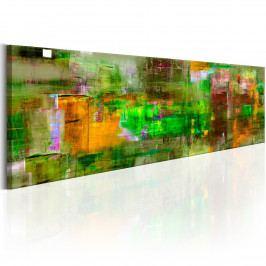 Zelený výraz (140x42 cm) - Murando DeLuxe
