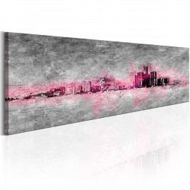 Růžové panorama (140x42 cm) - Murando DeLuxe