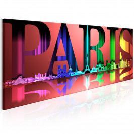 Barevný Paříž (120x60 cm) - Murando DeLuxe