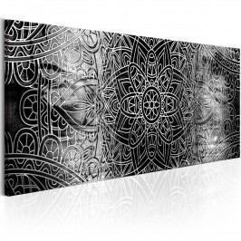 Černobílá mandala (135x45 cm) - Murando DeLuxe