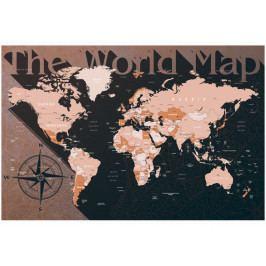 Mapa na korkové tabuli - the wold map (90x60 cm) - Murando DeLuxe