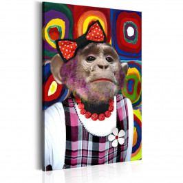 Miss Monkey (60x90 cm) - Murando DeLuxe