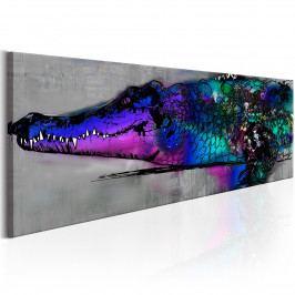 Fialový krokodýl (135x45 cm) - Murando DeLuxe