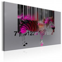 Fialová zebra (90x60 cm) - Murando DeLuxe