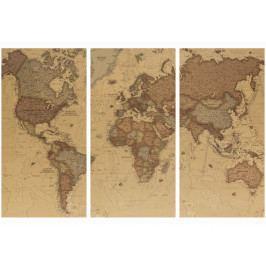 Mapa na korkové tabuli - starší mapa (90x60 cm) - Murando DeLuxe
