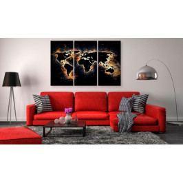 Mapa na korkové tabuli - plameny světa (90x60 cm) - Murando DeLuxe