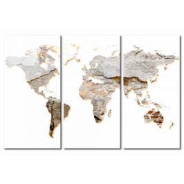 Mapa na korkové tabuli -betonové kontinenty (90x60 cm) - Murando DeLuxe