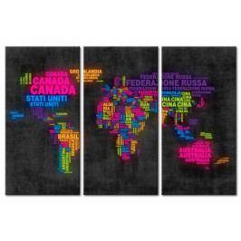 Mapa na korkové tabuli  - map s barevnými jmény (90x60 cm) - Murando DeLuxe