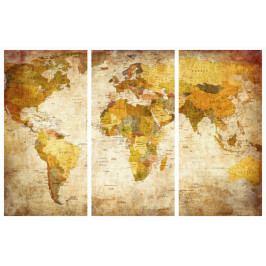 Mapa na korkové tabuli - starožitná mapa (90x60 cm) - Murando DeLuxe