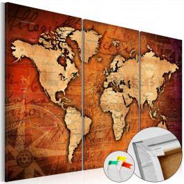 Mapa na korkové tabuli - mapa cestování (90x60 cm) - Murando DeLuxe
