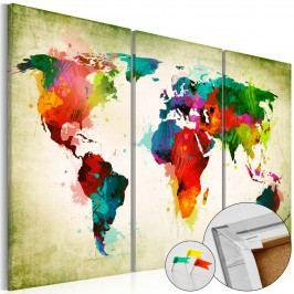 Mapa na korkové tabuli - mapa duše (90x60 cm) - Murando DeLuxe
