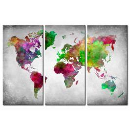 Mapa na korkové tabuli - rozmanitost světa (90x60 cm) - Murando DeLuxe