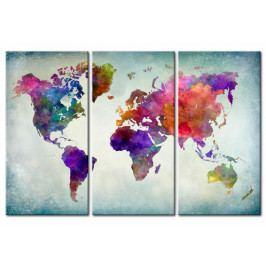 Mapa na korkové tabuli - svět v barvách (90x60 cm) - Murando DeLuxe