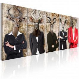 Pětidílné obraz - hlavy (150x60 cm) - Murando DeLuxe
