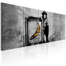Obraz - opičák s banánem (150x60 cm) - Murando DeLuxe