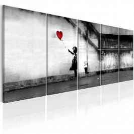 Vícedílný obraz - holčička s balónem (150x60 cm) - Bimago