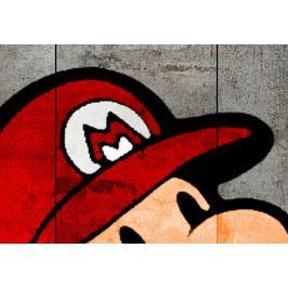Vícedílný obraz - graffiti na betonu (150x60 cm) - Murando DeLuxe