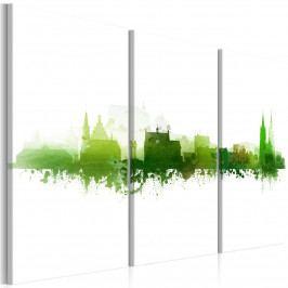 Vícedílný obraz - zelené město (90x60 cm) - Murando DeLuxe
