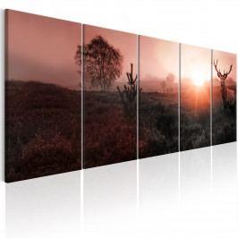 Čtyřdílný obraz - jelen v dálce (150x60 cm) - Murando DeLuxe