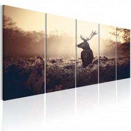 Pětidílný obraz - jelen (150x60 cm) - Murando DeLuxe