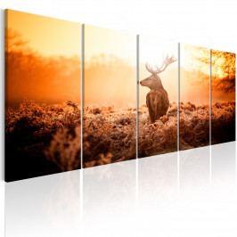 Vícedílný obraz - jelen v západu slunce (150x60 cm) - Murando DeLuxe