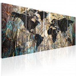 Vícedílný obraz - kontinenty (150x60 cm) - Murando DeLuxe