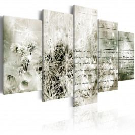 Pětidílný obraz - milostný list (200x100 cm) - Murando DeLuxe