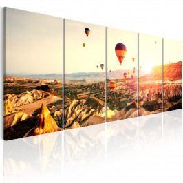 Vícedílný obraz - let balónem (150x60 cm) - Murando DeLuxe