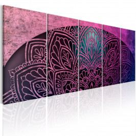 Vícedílný obraz - oblouk s Mandalou (150x60 cm) - Murando DeLuxe