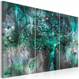 Abstraktní obraz - modrý strom (90x60 cm) - Murando DeLuxe