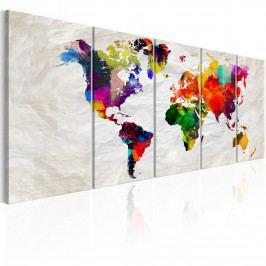 Vícedílný obraz - zmačkaný svět (150x60 cm) - Murando DeLuxe