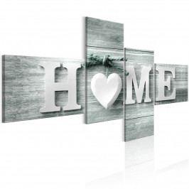 Čtyřdílný obraz - domov na dřevě (150x75 cm) - Murando DeLuxe