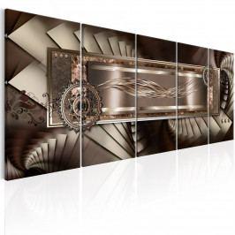 Vícedílný obraz - hnědé schody (150x60 cm) - Murando DeLuxe
