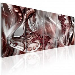 Abstraktní obraz - červená záře (150x60 cm) - Murando DeLuxe