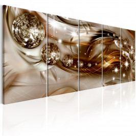 Abstraktní obraz - hnědý prach (150x60 cm) - Murando DeLuxe