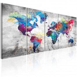 Barevný svět v obrazech II (150x60 cm) - Murando DeLuxe