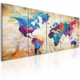 Barevný svět v obrazech (150x60 cm) - Murando DeLuxe