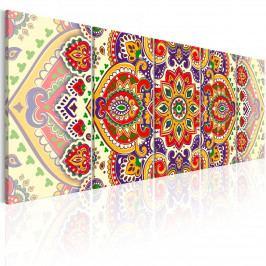 Moderní obrazy - barevný ornament (150x60 cm) - Murando DeLuxe