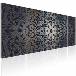 Moderní obrazy na zeď - grafitová mandala (150x60 cm) - Murando DeLuxe