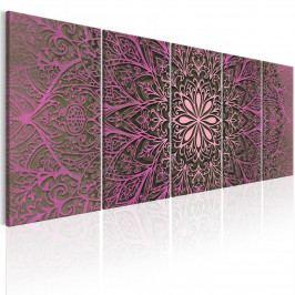 Moderní obrazy na zeď - růžová mandala (150x60 cm) - Murando DeLuxe