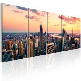 Obraz - Západ slunce v New Yorku (150x60 cm) - Murando DeLuxe