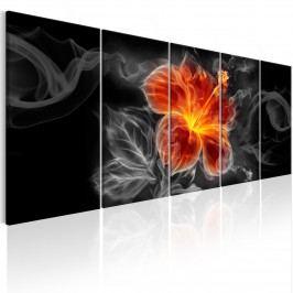 Vícedílné obrazy na zeď - kouřový květ (150x60 cm) - Murando DeLuxe