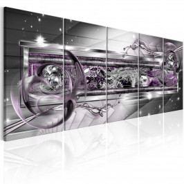 Pětidílné obrazy - fialový dech (150x60 cm) - Murando DeLuxe