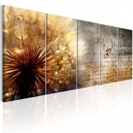 Pětidílný obraz - sluneční pampeliška (150x60 cm) - Murando DeLuxe